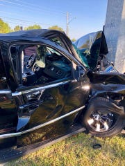 Two people were taken to a hospital Friday following