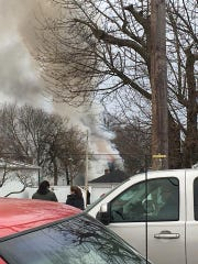 A fire was reported on Baltimore Street in Penn Township