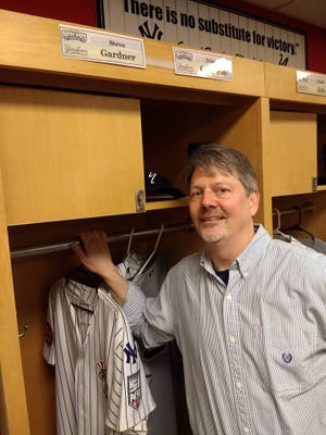 Participants at this year's Tout Wars drafts at Richmond County Bank Ballpark, home of the Staten Island Yankees, got their own locker and batting practice jersey.