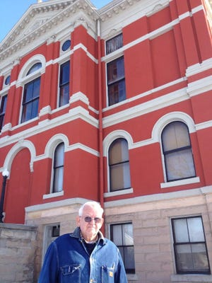 Gaylord Edgerly, pictured in 2013 outside the Eaton County Courthouse. The retired electrician, who spent hours repairing things at the historic property for more than two decades, died March 15, 2018.