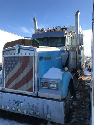 A semi tractor is among many vehicles and tools available for bid at the sheriff's auction sale Friday, March 23, at the W.H. Lyon Fairgrounds. The sale starts in the armory at 10 a.m.