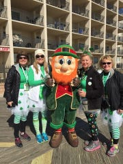 Franklin County's Karen Kimple, Carla Pilgrim, Teresa Bumbaugh and Jackie Reisinger all competed in last weekend's Ocean City Shamrock 5K.