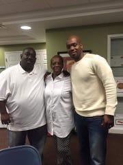 (From left) Darryl, Debra and DeAndre Haynes.