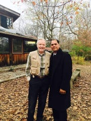"""Surviving the Wild: On the Set - Jon Voight and Writer/Producer Mark Hefti on set of """"Surviving The Wild"""" at Blackacre State Nature Preserve"""