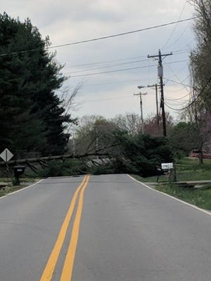 Trough Springs Road was closed between Countryside and Savannah Trace Monday afternoon.