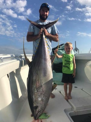 It's time to hit the Other Side, as the anglers aboard the Adventurous out of Port Canaveral showed this week with the catch of a 143-pound yellowfin tuna.