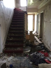 The interior of 918 Virginia Park, which Cowin said he won in a buildingdetroit.org auction that was canceled.