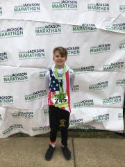 Trenton's Colin Hickerson ran 13 miles on the day before