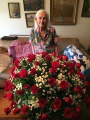 Josephine Regmund on her 99th birthday in June 2016.