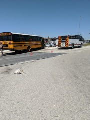 A Fort Myers woman was killed in a crash involving her car and a school bus in Estero on Wednesday.