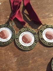 Head & Neck Cancer 5K Run & 2 Mile Walk medals