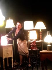 "Emmy Tancsics lights up the stage in ""Lamps"" as a woman"