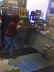 The Escambia County Sheriff's Office is searching for a suspect accused of robbing the Raceway Gas Station at gunpoint on Monday.
