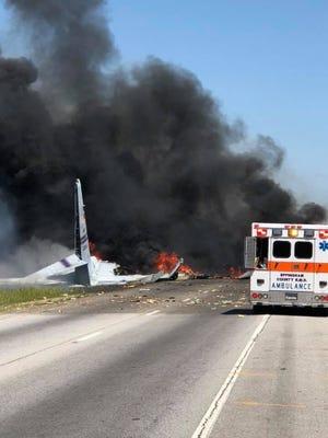 A military plane crashed outside of Savannah, Georgia, Wednesday morning.