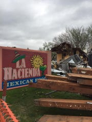 La Hacienda Mexican restaurant on Ingersoll Avenue is being torn down to make way for new development.