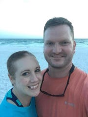 Kansas woman Danielle Dick, pictured with husband Tyler,