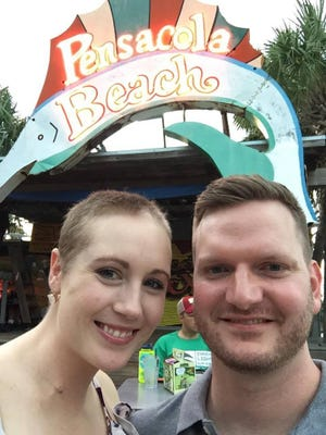 Kansas woman Danielle Dick, pictured with husband Tyler, went to Pensacola Beach in October as an unofficial bucket list item before she passed away from melanoma.