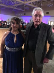 Eloisa Soliz, pictured with Ed Frank, was recognized