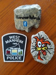 West Manheim Township Police Department hide rocks with inspirational messages and images to spread kindness. #WMTPDrocks