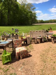 Lot 671 outside of Auburndale is a popular wedding site, but holds a spring vendor sale each month featuring furniture, crafts and other things.