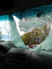 The turkey injured two women in the front seat of the