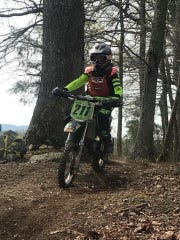 Gracie Sheets, 10, has been racing dirt bikes since