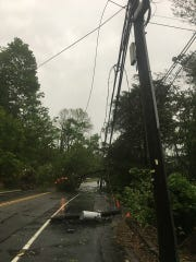 Power lines on Route 53 near Park Road in Parsippany