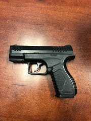 This is the imitation pistol Richard Lafond is accused