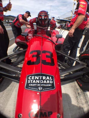Central Standard Craft Distillery, of Milwaukee, will have its logo on this car at Sunday's Indianapolis 500 auto race.