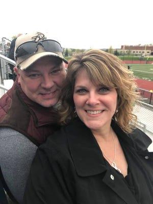 Stroke survivor Gina Chapman and her husband, Dave