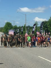 Several local runners took part in the Marine Corps