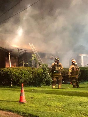 A fire in Dover Township displaced two residents Wednesday, May 23. Photo courtesy of the Southern PA Incident Network https://www.facebook.com/SPINhelps/