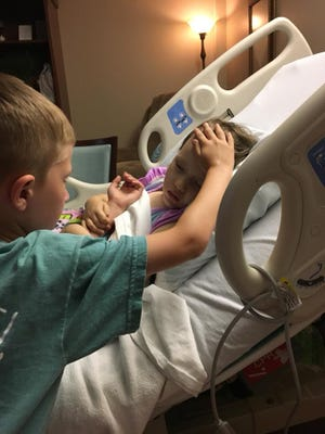 Addy's brother says good bye to his sister, shortly before her passing.