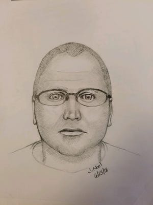 A police sketch shows what the suspect in a random shooting June 10, 2018 shooting in Wilder home may look like.