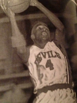 Willie Davis has high-flying skills in getting to the basket during his playing days at Port Barre High in the 1990s.