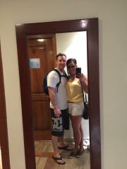 Kayleigh Smith and her husband during their vacation