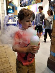 At BrumeJuice on the Ocean City boardwalk, you can create your own bubbling, smoking cold drink.