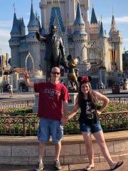 Darren and Emma Grant in the Magic Kingdom. The Grants