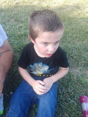 Lyric Maggard, 4, was photographed by his family Saturday after jumping into the Willard Aquatic Center.
