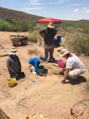 NMSU students do excavation work at Cottonwood Spring
