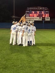 Lancaster Post 11 players celebrate after defeating