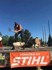 UW-Stevens Point alum Kate Witkowski will compete Friday through Sunday at the U.S. National Timbersport Championships at German Fest in Milwaukee. She finished second in the inaugural event last year.