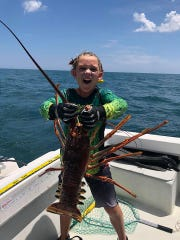 Graham Thompson, 7, had a great lobster mini-season with dad Graham Thompson and friends diving aboard Graham Cracker out of Pirates Cove Marina Wednesday and Thursday off Peck's Lake.
