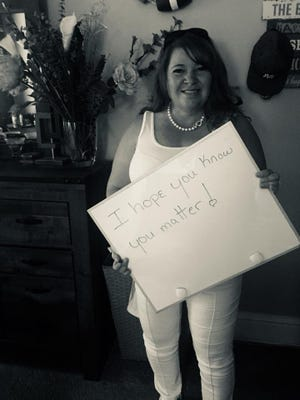 Anne Clark, an educator and community leader in York County, is gathering messages of hope from county residents. The messages will be collected in a book with contributors' photos, shot in black and white by photographer Randy Flaum.