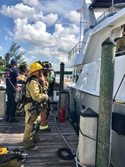 A boat fire Thursday afternoon left one boat damaged,