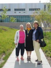 Jean Ahart, left, with her granddaughter, Katie Ahart,