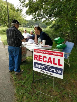 Shortly after Jeremy Jedynak became acting mayor in Rockaway Township, a group of residents began a campaign to recall him. Courtesy of Lynn M. Perry Rockaway Township recall drive