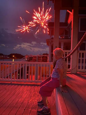 Jo Ann Riley submitted this photo she took of Betty Geary enjoying her 95th Fourth of July.
