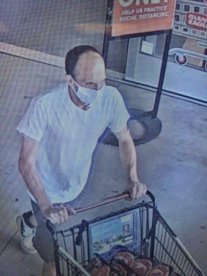 Stow police are trying to identify this man in relation to a meat theft from a grocery store.