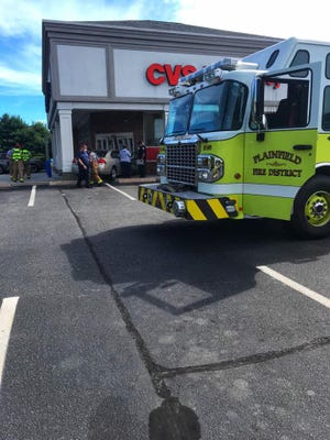 Vehicle strikes Plainfield CVS on Lathrop Road on Monday.